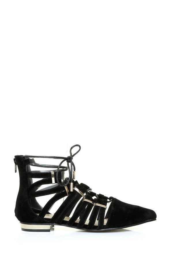 LADIES SUEDE GLADIATOR SANDALS 1