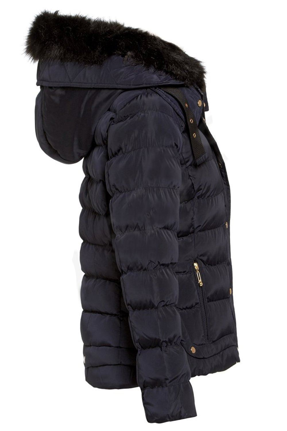 d33f9b20e Eleanor Faux Fur Quilted Hooded Jacket - Shelikes