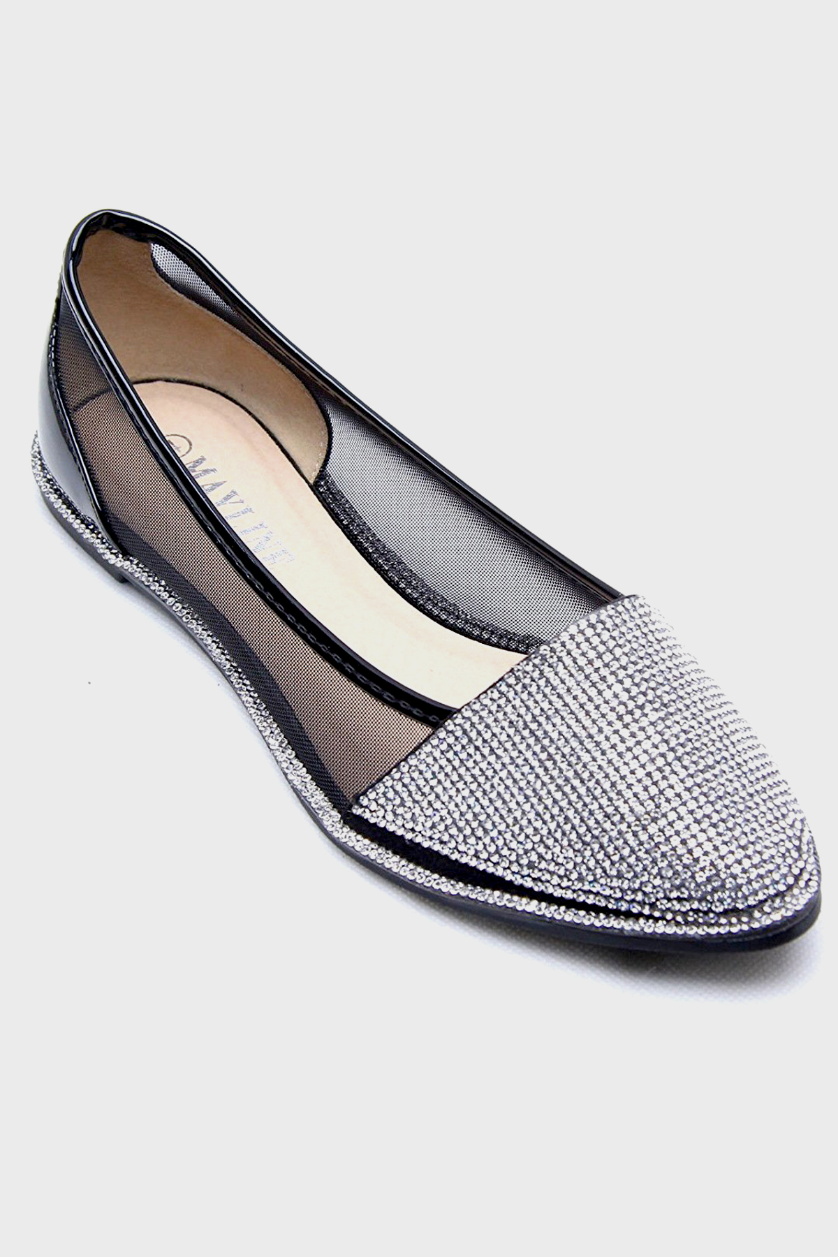 3187f173ab57f1 Mia Black Diamante Shoes - Shelikes