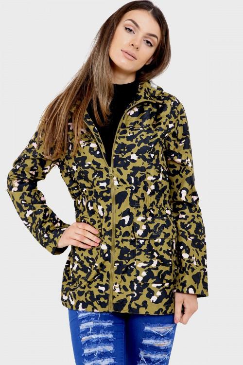 8332247f54760 Leona Camo Print Raincoat Mac · CLOTHING ...