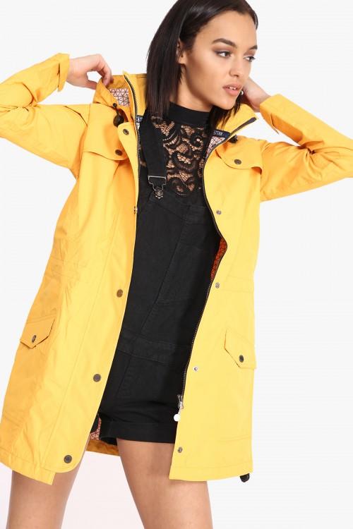 ecbd7215b7e65 SIENNA HOODED FESTIVAL RAINCOAT – YELLOW · CLOTHING ...
