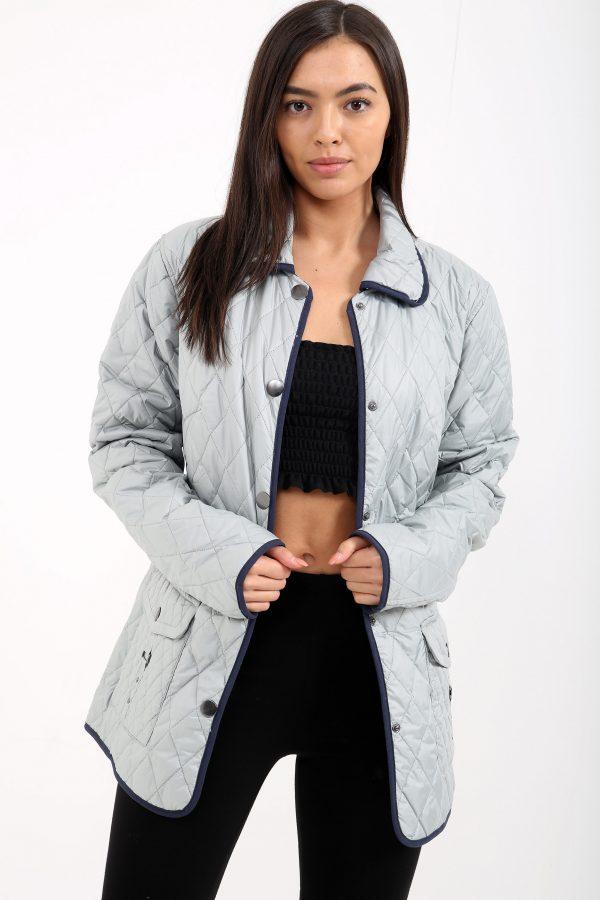 7424c967ad96c Dakota Grey Floral Lining Jacket · CLOTHING ...